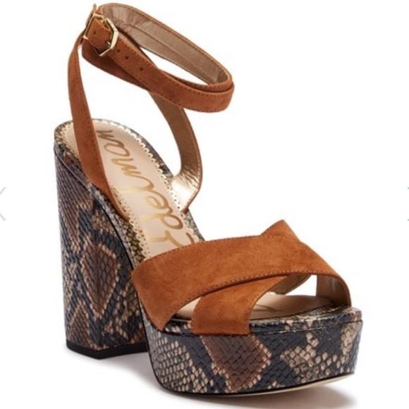 86887428452d Sam Edelman Mara Embossed Platform Sandals